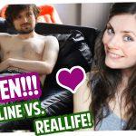 Flirten! Online vs. Reallife